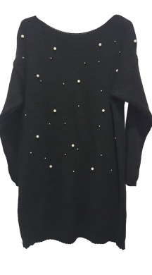 Woman's knitted  dress snow pearl