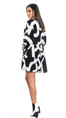 Mini Printed Dress with FrillONLINE