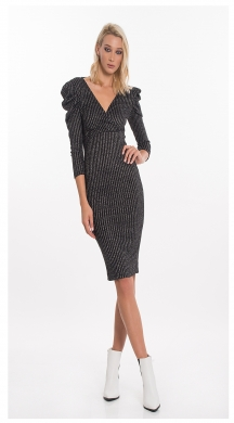 Rip Midi Dress with Balloon Sleeve ONLINE