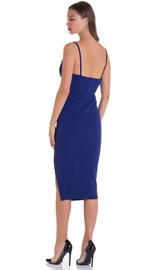 Bodycon dress with cut-out on the side