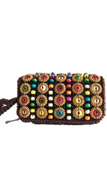 Clutch with colorful beads NAOMI