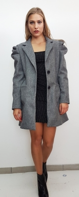 Coat with Balloon Sleeves