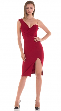 Bodycon dress with diffrent width straps