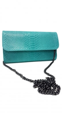 Leather Croco Clutch Evelyn