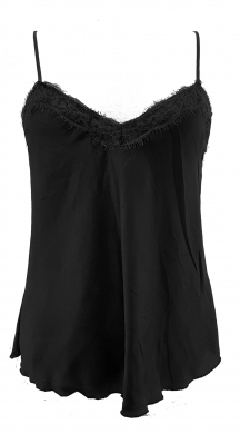 Woman's slip top wih lace on the neckline