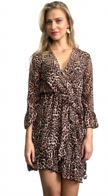 Cruise Dress Leopard with Frill
