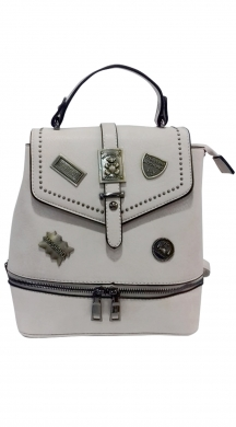 Backpack with metallic details