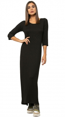 Monochrome Maxi Rip Dress NAIBA
