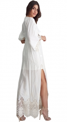 Maxi lace dress with 3/4 sleeves