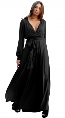 Maxi dress with belt Victoire