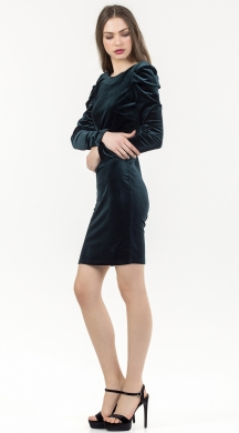 Velvet dress with statement sleeves and open back Online