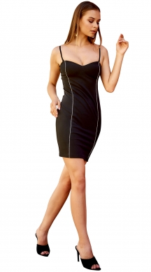 Bodycon Mini dress με design ρίγα