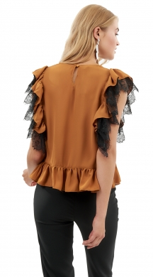 Blouse with Ruffles & Lace ONLINE