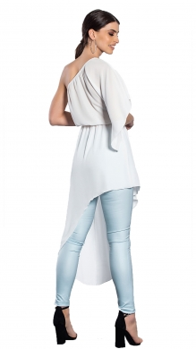 Asymmetric blouse with one shoulder Janis