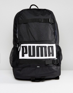 Τσάντα Backpack PUMA 34x17x47εκ. Deck Black