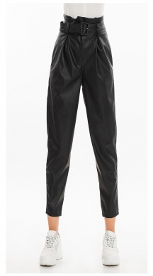 Leatherlook Pants with Belt ONLINE
