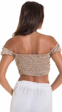 Crop top with fold