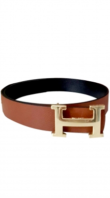 Belt with metallic buckle love