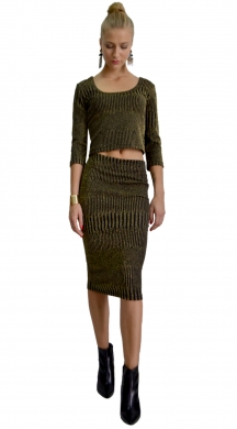 Lurex  Asorti Set Skirt with Top