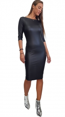 Midi bodycon Online Dress with open back