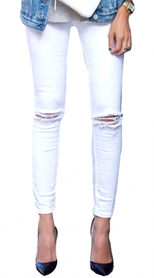 White Normal Fit Jean