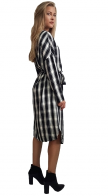 Midi Checked Dress