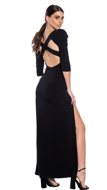 Maxi Monochrome dress and open back