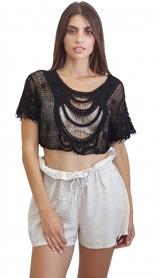 boho crop top crose