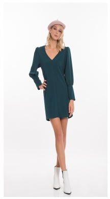 Short Dress with V on Sleeve ONLINE