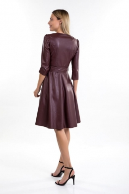 Leatherlook Dress with Asorti Belt