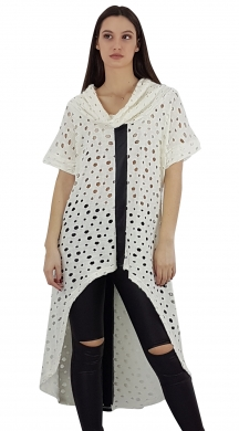 Woman's abroach asymmetrical top with loose trurtleneck Online