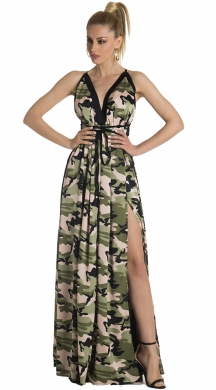 Maxi Military Φόρεμα με Cut-out ONLINE