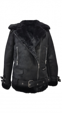 LUX Aviator Jacket με Γούνα