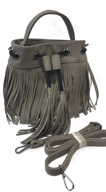 Woman's boho bag with fringes