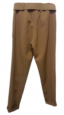 Fabric High waisted Trouser with Belt