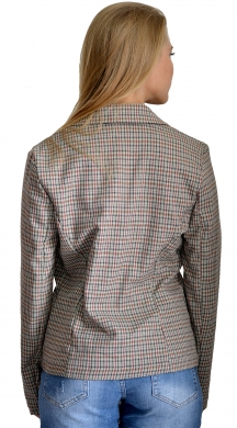 Short Argyle Blazer with Buttons