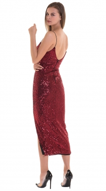 Maxi sequinned bodycon dress