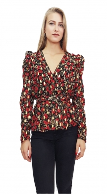Floral Shirt with Frill
