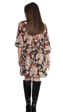 Floral Dress with Neck Tie and Frill ONLINE