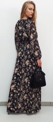 Maxi Floral Dress with Belt