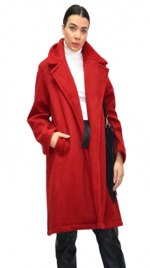 Long Coat with Pockets and Belt in the Middle ONLINE