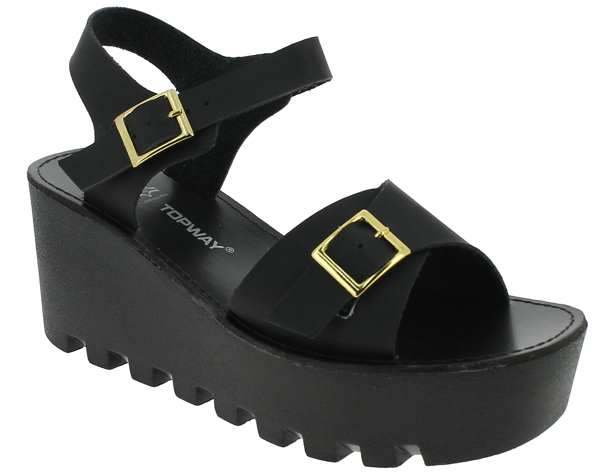 Γυναικεία Πλατφόρμα B716230 Μαύρο - IqShoes - B716230 black 37/1/15/27 παπούτσια  γυναικείες πλατφόρμες