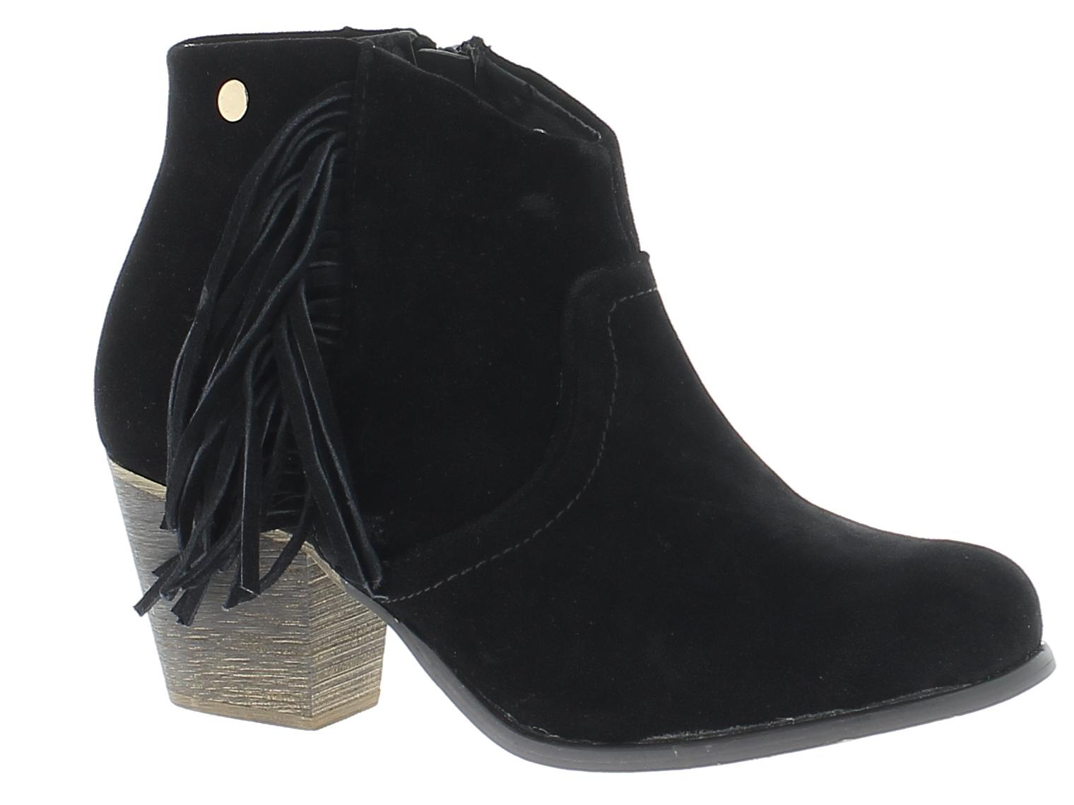 IQSHOES Γυναικείο Μποτάκι CF1512 Μαύρο - IqShoes - CF1512 BLACK black 40/1/15/8 παπούτσια  γυναικεία μποτάκια