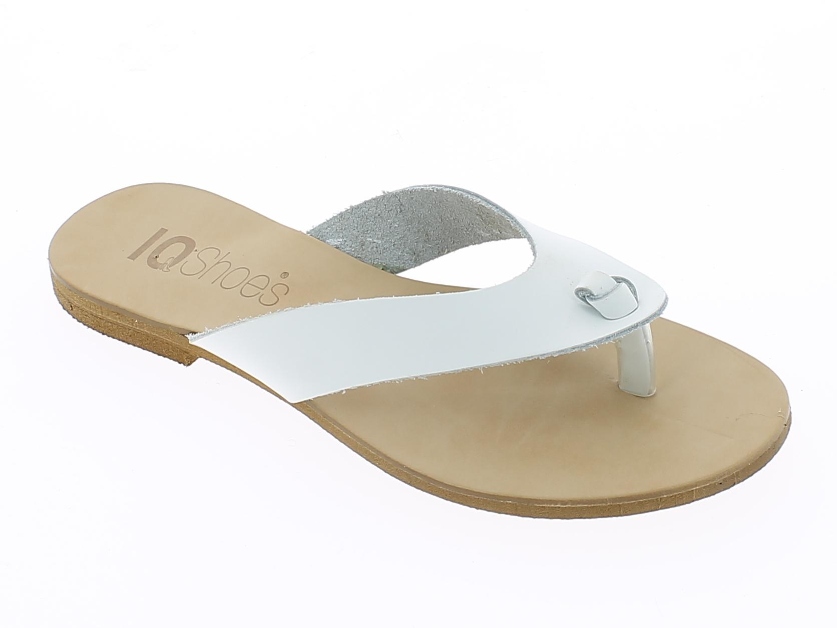 IQSHOES Γυναικείο Σανδάλι T184-07 Λευκό - IqShoes - T184-07 WHITE white 37/1/14/ παπούτσια  γυναικεία σανδάλια   πέδιλα