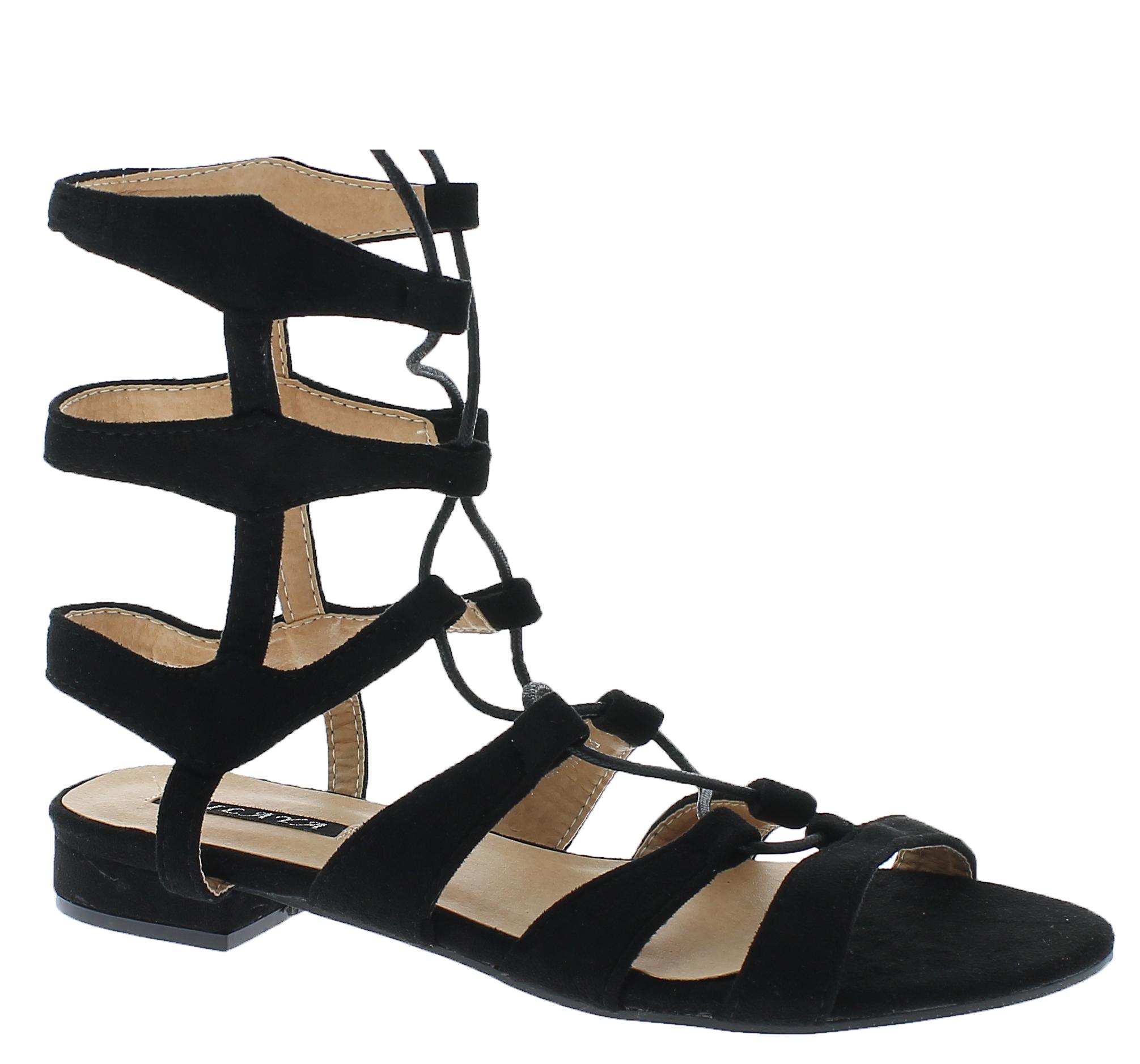 Γυναικεία Σανδάλια FH2H0041 Μαύρο - IqShoes - 18.2H004 BLACK-37/1/15/27 παπούτσια  γυναικεία σανδάλια   πέδιλα