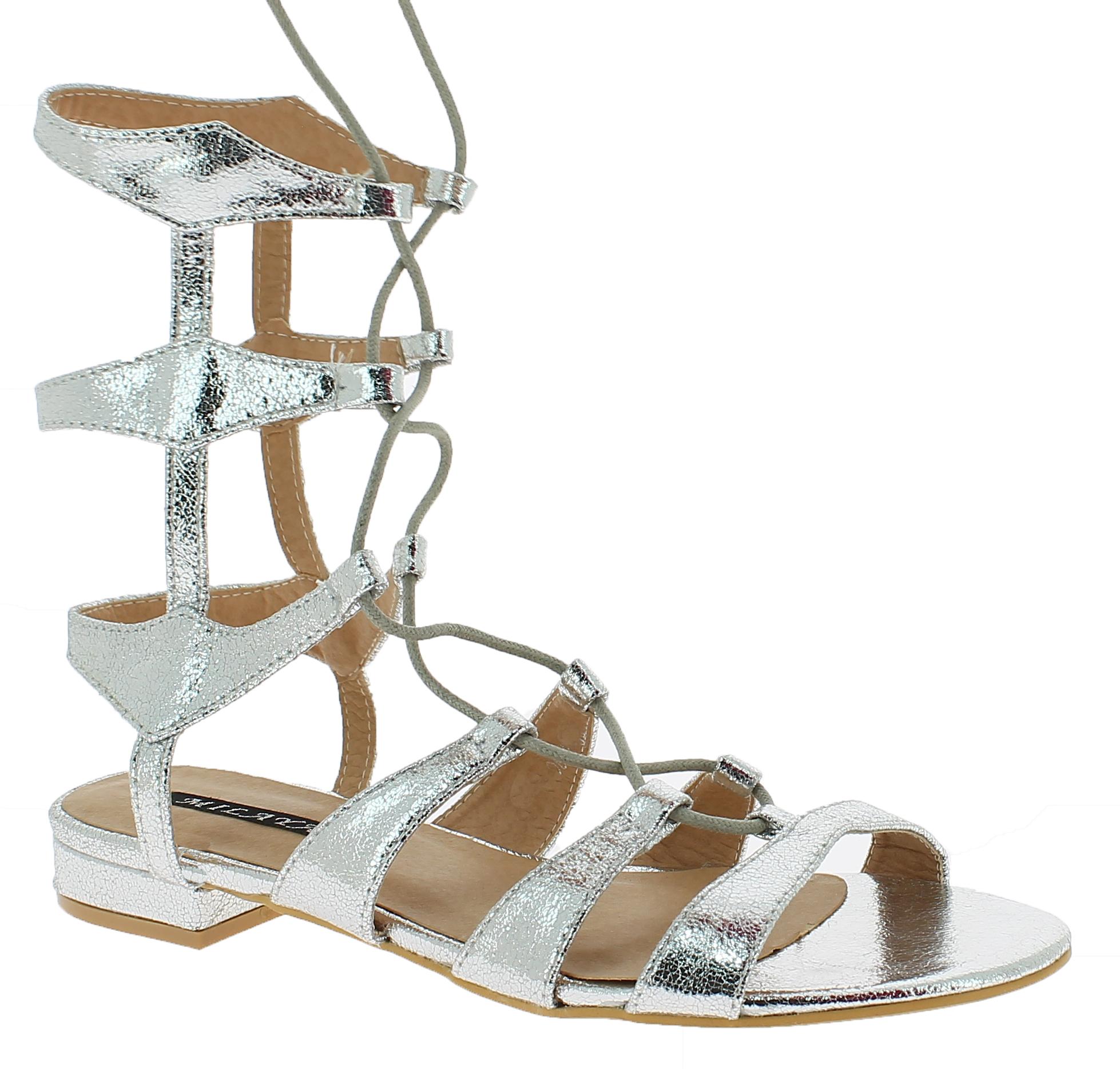 Γυναικεία Σανδάλια FH2H00443 Ασημί - IqShoes - 18.2H004 SILVER-35/1/35/29 παπούτσια  γυναικεία σανδάλια   πέδιλα