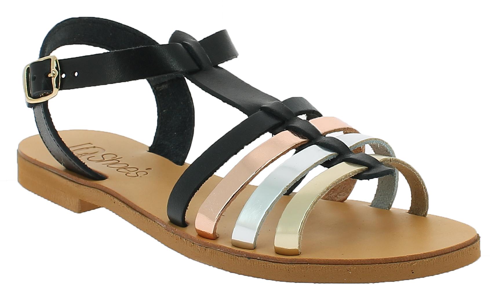 IQSHOES Γυναικείο Πέδιλο 193 Μαύρο - IqShoes - 20.193 black-black-36/1/15/7 παπούτσια  γυναικεία σανδάλια   πέδιλα