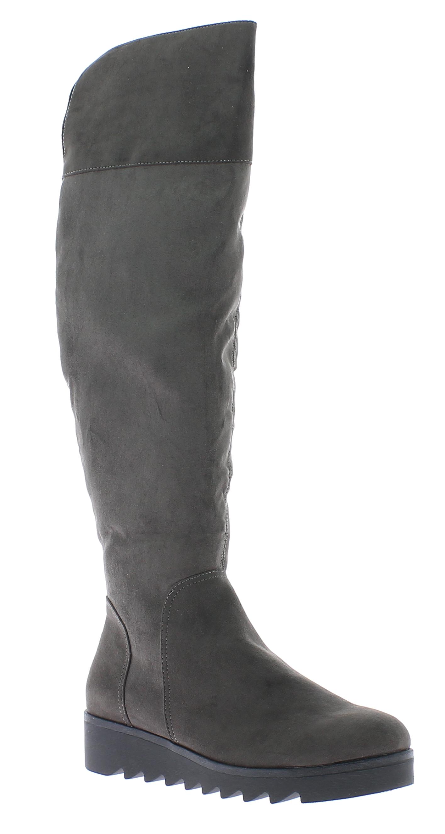 IQSHOES Γυναικεία Μπότα 2411522 Γκρι - IqShoes - 2411522 GREY-grey-37/1/16/27 παπούτσια  γυναικεία μποτάκια