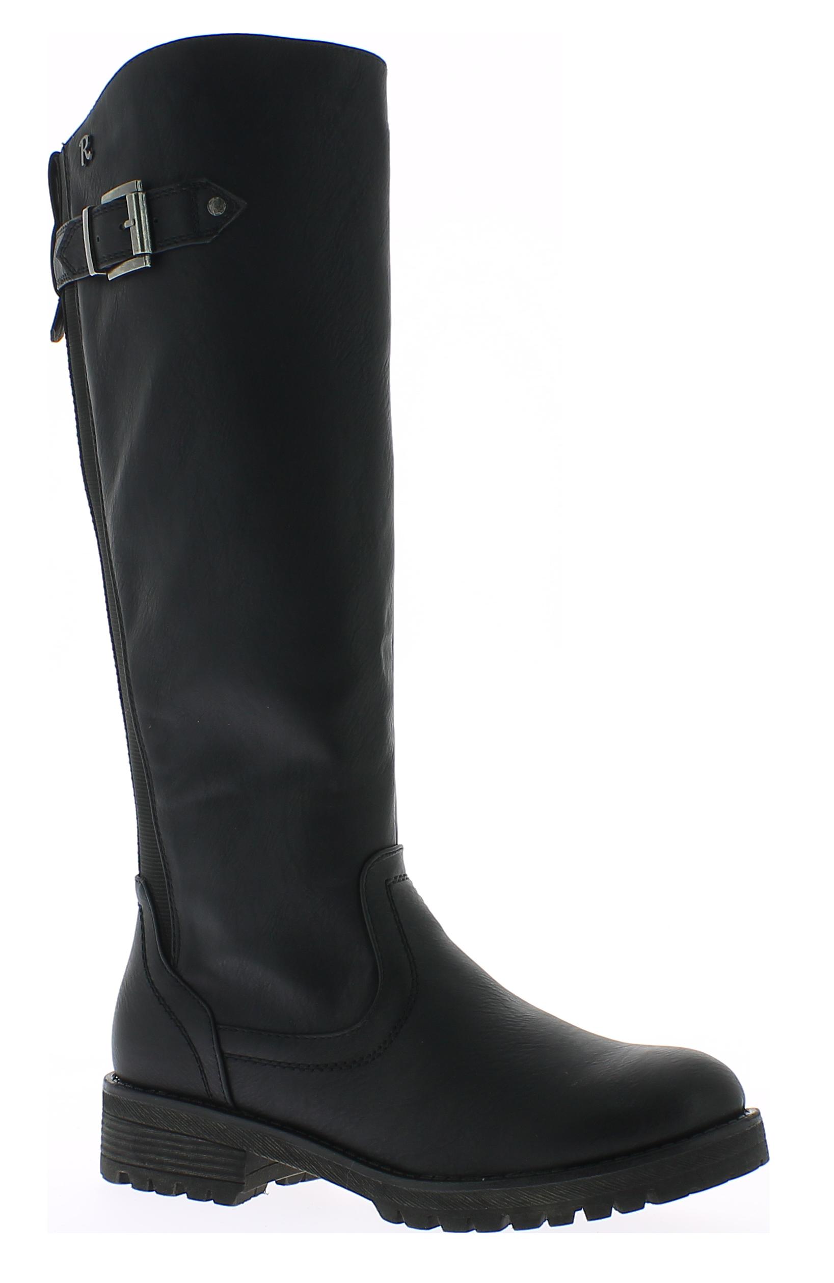 REFRESH Γυναικεία Μπότα 63166 Μαύρο - IqShoes - 63166 BLACK-black-39/1/15/25 παπούτσια  γυναικεία μποτάκια