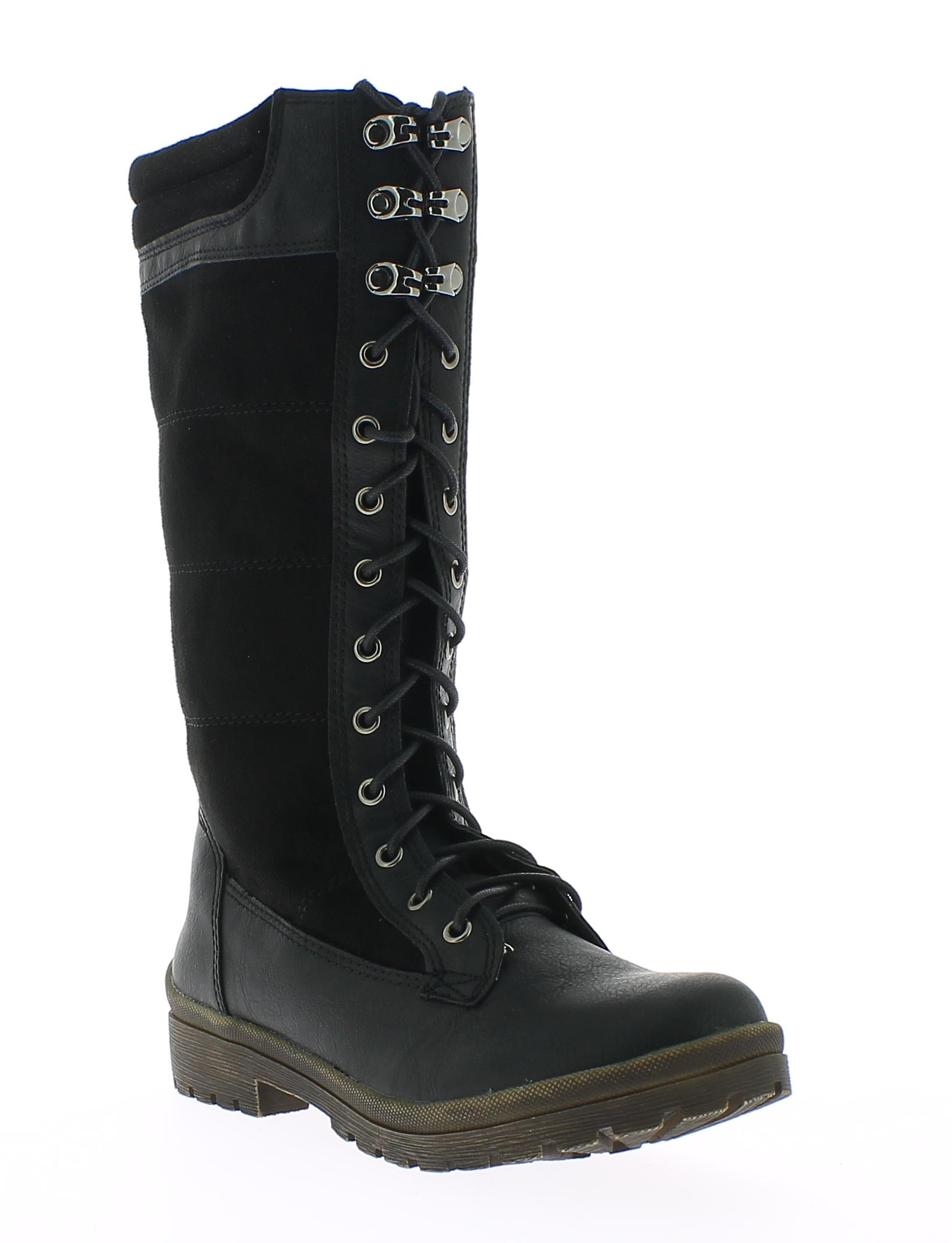 REFRESH Γυναικεία Μπότα 63073 Μαύρο - IqShoes - 63073 BLACK-black-39/1/15/25 παπούτσια  γυναικεία μποτάκια